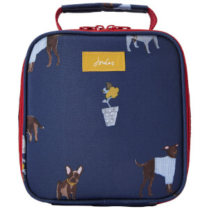 Joules Dog Print Picnic Lunch Bag - Blue