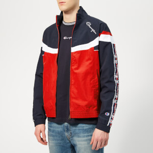Champion Men's Full Zip Top - Navy/Red/White