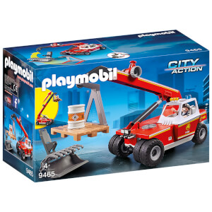 Playmobil City Action Fire Crane with Pallet Fork Attachments (9465)