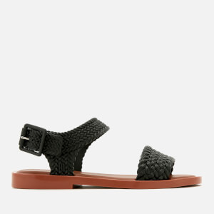 Melissa Women's Salinas Mar Braid Double Strap Sandals - Black