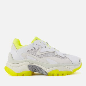 Ash Women's Addict Chunky Runner Style Trainers - White/Fluo Yellow
