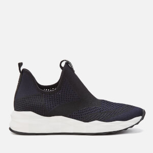 Ash Women's Shake Knitted Slip-On Trainers - Black/Midnight