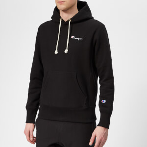 Champion Men's Small Logo Hooded Sweatshirt - Black