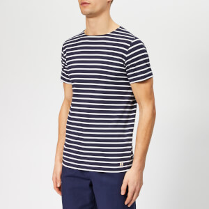 Armor Lux Men's Hoëdic Marinière T-Shirt - Navire/Blanc