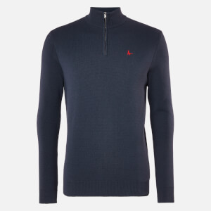 Jack Wills Men's Westwick Cotton Half Zip - Navy