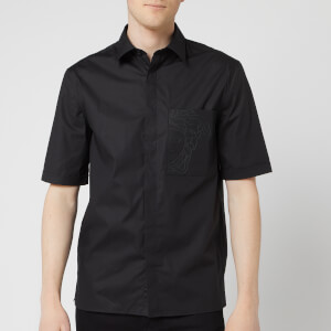 Versace Collection Men's Chest Medusa Shirt - Black