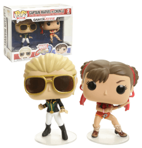 Marvel vs Capcom Captain Marvel vs Chun-Li EXC 2-Pack Pop! Vinyl Figures