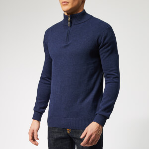 Joules Men's Hillside 1/4 Zip Knit - French Navy Marl