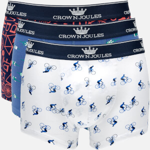 Joules Men's Crown Joules 3 Pack Boxer Shorts - Great Ride
