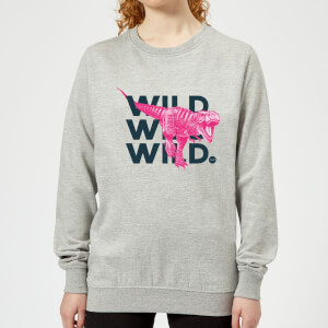 Wild Dinosaur Women's Sweatshirt - Grey