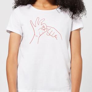 Sexy Hand Gesture Women's T-Shirt - White