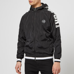 Plein Sport Men's Nylon Jacket Statement - Black/White