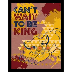 The Lion King (Can't Wait to be King) 30 x 40cm Print