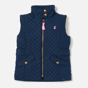 Joules Girl's Jilly Quilted Gilet - Navy