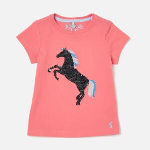 Joules Girls' Astra Jersey T-Shirt - Pink Unicorns