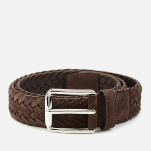 Tod's Men's Woven Suede Belt - Caffe
