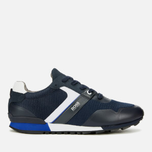 BOSS Men's Parkour Mesh Running Style Trainers - Dark Blue