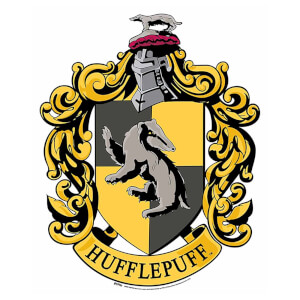 Hufflepuff Emblem Cardboard Wall Cut Out Harry Potter Wizarding World