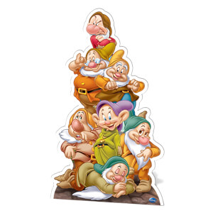 Snow White - Seven Dwarves Cardboard Cut Out