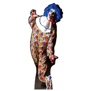 IT IS A VERY Scary Male Clown Lifesize Cardboard Cut Out