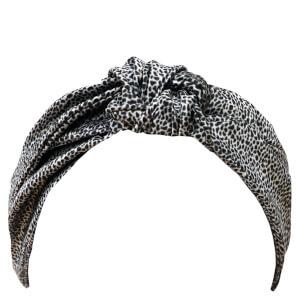 Slip Silk Knot Headband - Leopard