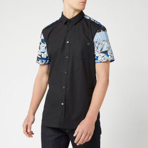 Versace Jeans Men's Sleeve Detail Polo Shirt - Black