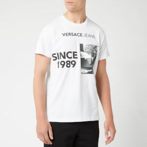 Versace Jeans Men's Printed Crew T-Shirt - White