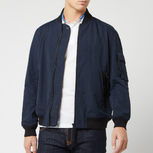 BOSS Men's Obani Bomber Jacket - Dark Blue