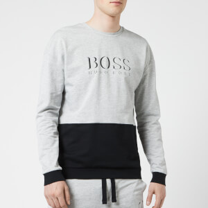 BOSS Hugo Boss Men's Logo Crew Neck Sweat Top - Grey/Black