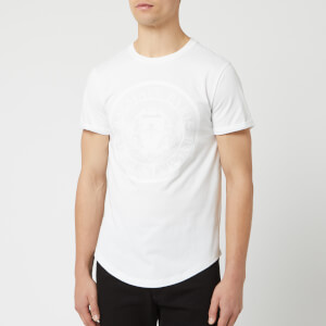 Balmain Men's Flocked Coin T-Shirt - Blanc