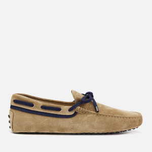 Tod's Men's Laced Driving Shoes - Beige/Blue