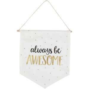 Sass & Belle Metallic Monochrome Awesome Message Flag