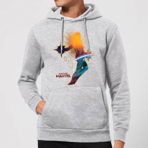 Captain Marvel Nebula Flight Hoodie - Grey
