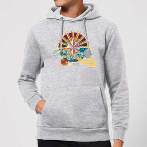 Captain Marvel Star Power Hoodie - Grey
