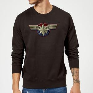 Captain Marvel Chest Emblem Sweatshirt - Black