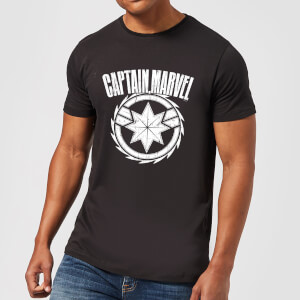 Captain Marvel Logo Men's T-Shirt - Black