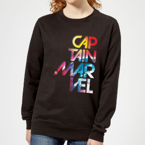 Captain Marvel Galactic Text Women's Sweatshirt - Black