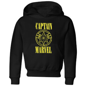 Captain Marvel Grunge Logo Kids' Hoodie - Black