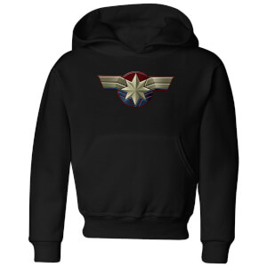 Captain Marvel Chest Emblem Kids' Hoodie - Black