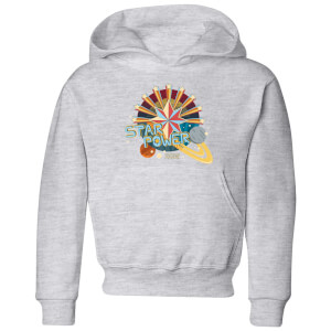 Captain Marvel Star Power Kids' Hoodie - Grey