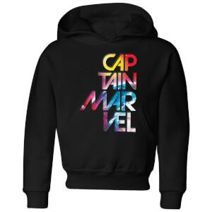 Captain Marvel Galactic Text Kids' Hoodie - Black