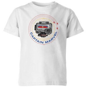 Captain Marvel Pager Kids' T-Shirt - White
