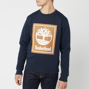 Timberland Men's Stack Logo Sweatshirt - Dark Sapphire