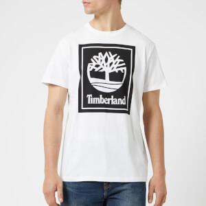 Timberland Men's Stack Logo T-Shirt - White