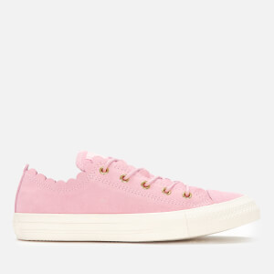 f9fdefe61fe9e7 Converse Women s Chuck Taylor All Star Scalloped Edge Ox Trainers - Pink  Foam Gold