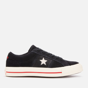 Converse Women's One Star Ox Trainers - Black/Enamel Red/Egret