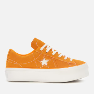 0f38b064a0f6 Converse Women s One Star Platform Ox Trainers - Field Orange White