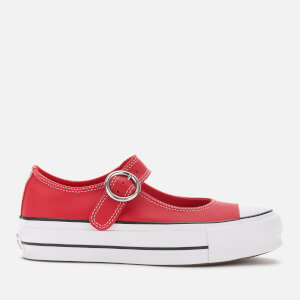 Converse Women's Chuck Taylor All Star Mary Jane Ox Flats - Enamel Red/Black/White