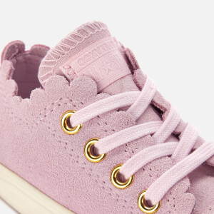 Converse Toddlers' Chuck Taylor All Star Ox Trainers - Pink Foam/Brass: Image 4