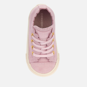 Converse Toddlers' Chuck Taylor All Star Ox Trainers - Pink Foam/Brass: Image 3
